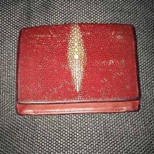Stingray red credit card holder. Vintage!